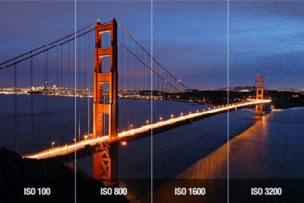 Exemplu - diferite valori ale ISO pentru DSLR